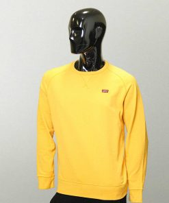 LEVIS Yellow Full Sleeves Plush Swet Shirt